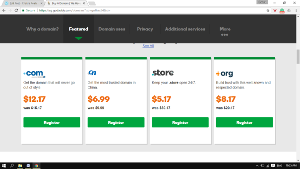 domain rates by godaddy